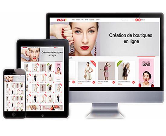 Boutique en ligne professionnelle, livrée prête à fonctionner, référencement inclus